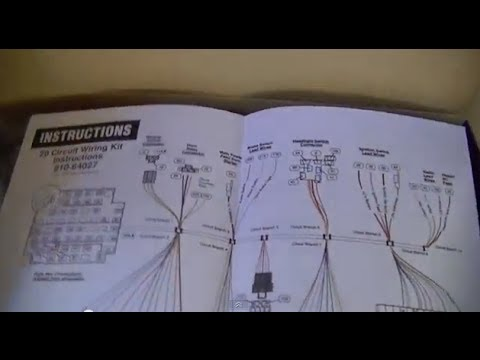 part 1 c10 wiring repair universal wiring harness youtube rh youtube com 20 circuit wiring harness kit diagram universal 20 circuit wiring harness