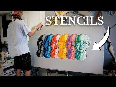 Multi-Layered Stencil Tutorial - Massive Canvas Project!
