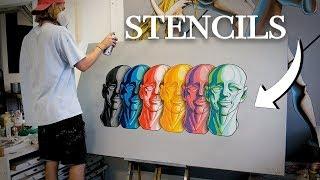 Multi-Layered Stencil Tutorial - Massive Canvas Project!
