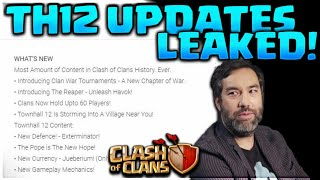 NEW TH12 UPDATE LEAKES CLASH OF CLANS! NEW HERO,DEFENSE,TROOPS CLASH OF CLANS•FUTURE T18