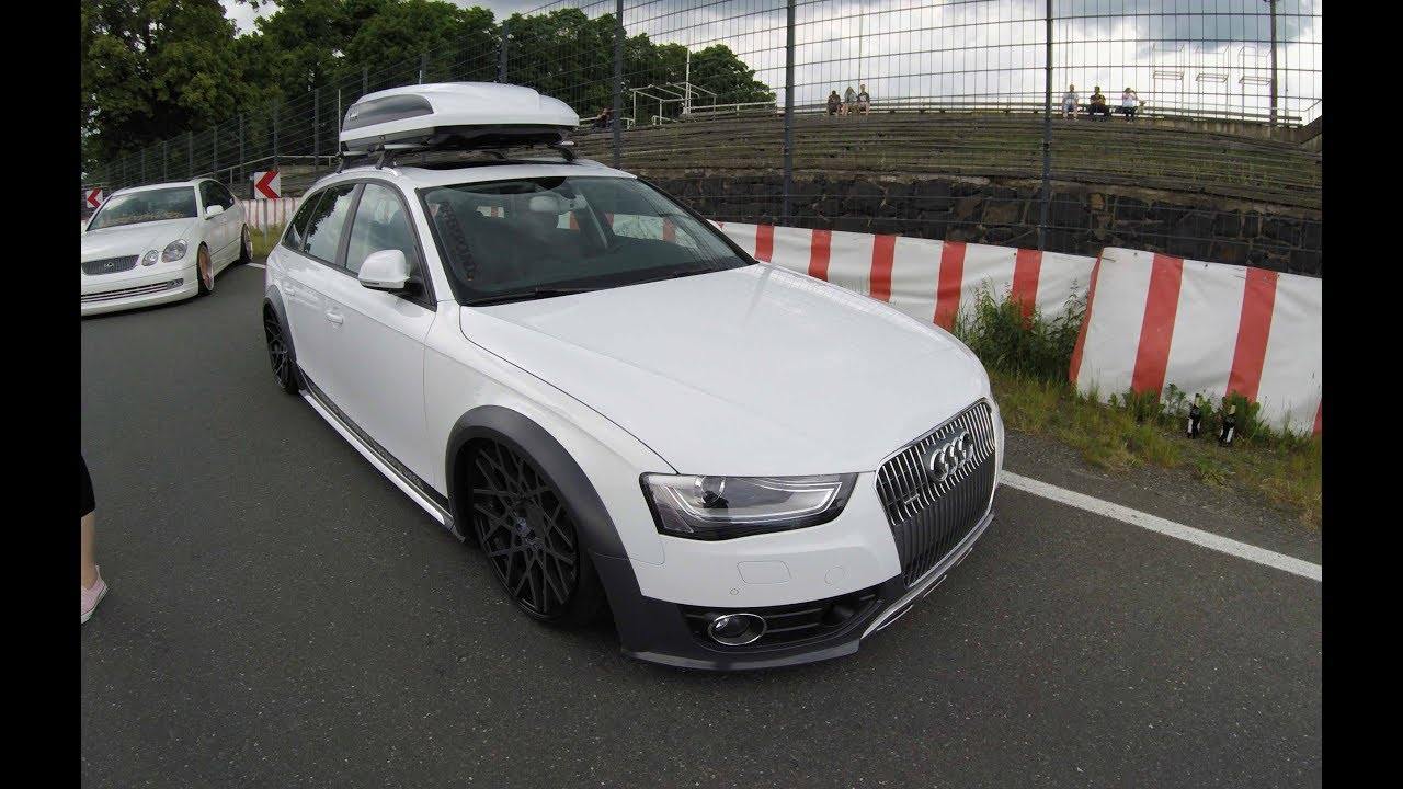 audi a4 allroad with jetbag b8 white colour rotiform. Black Bedroom Furniture Sets. Home Design Ideas