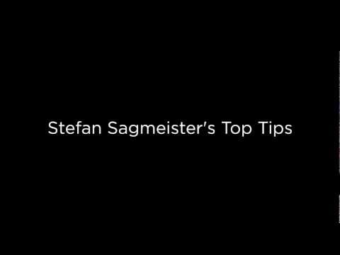 Stefan Sagmeister: Top Tips From a Grammy-Award Winning Designer