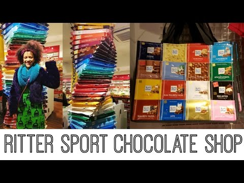 😍 Chocolate Dream Come True! 😍 Visiting Ritter Sport Chocolate Shop in Berlin 😋