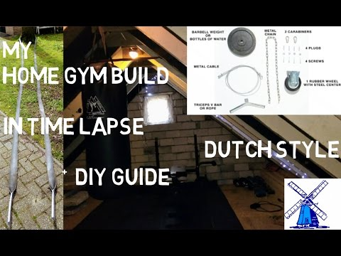 HOW I BUILD MY HOME GYM DUTCH STYLE in Time lapse + A DIY GUIDE in HD