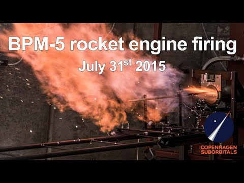 Static Rocket Engine Test BPM 5