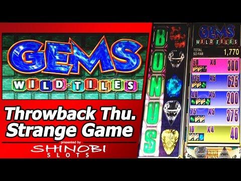 Gems Wild Tiles Slot - TBT Live Play and Picking Bonus in a strange