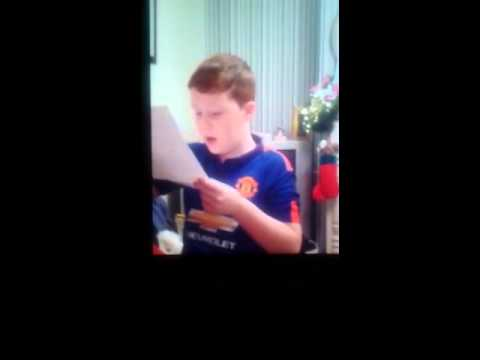 Dylan's reaction to a surprise from Santa!