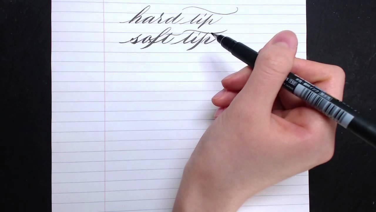 Tombow fudenosuke brush pen review for calligraphers youtube