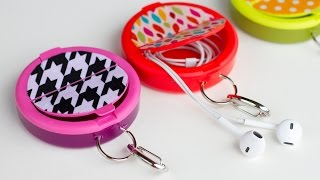 Video How to make an EARPHONE HOLDER (from a mint container) download MP3, 3GP, MP4, WEBM, AVI, FLV Juli 2018