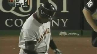 Barry Bonds Third Deck Homer at RFK Stadium--9/20/2005