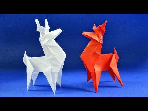 Оригами олень. Как сделать оленя из бумаги (Jo Nakashima)