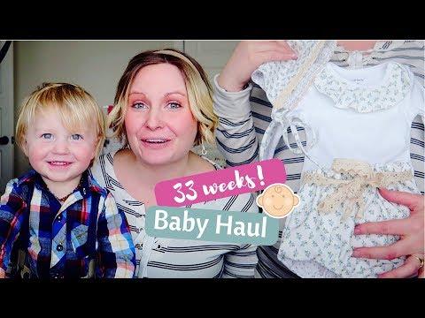 33-week-pregnancy-update-|-baby-girl-clothing-haul-custom