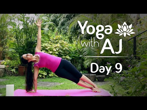 Yoga Poses For Shoulder, Arms, Back And Core | Day 9 | Yoga For Beginners - Yoga With AJ