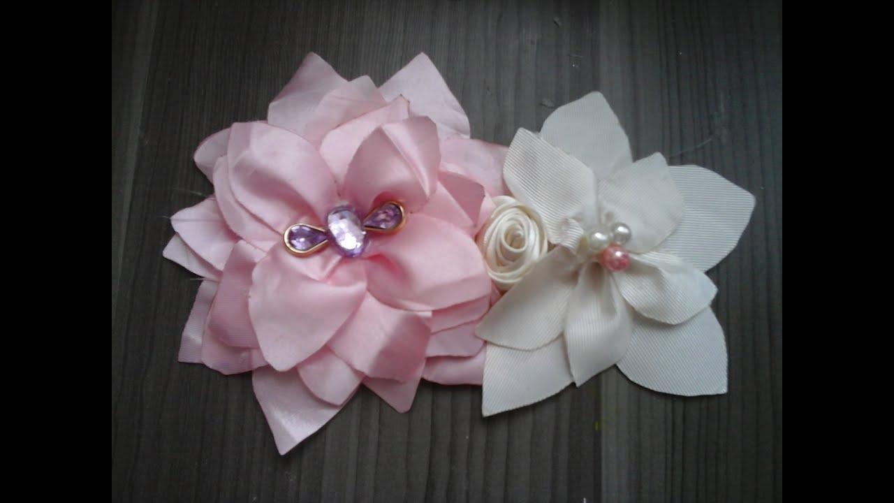 Como hacer un tocado para el cabello flor hecha de tela for Diademas de tela para el cabello