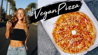 WHAT I EAT IN A DAY / FULL DAY OF EATING VLOG IN LA   THE BEST VEGAN PIZZA