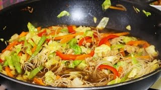 How To Cook Pancit Bihon Recipe - English