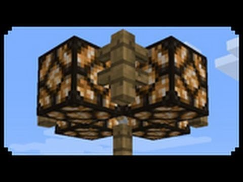 Minecraft How To Make A Redstone Lamppost