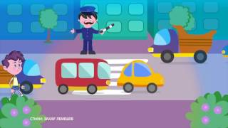 Правила дорожного движения (ПДД) 🚗 для детей в стихах. 🚦 Развивающий мультик. Урок 3