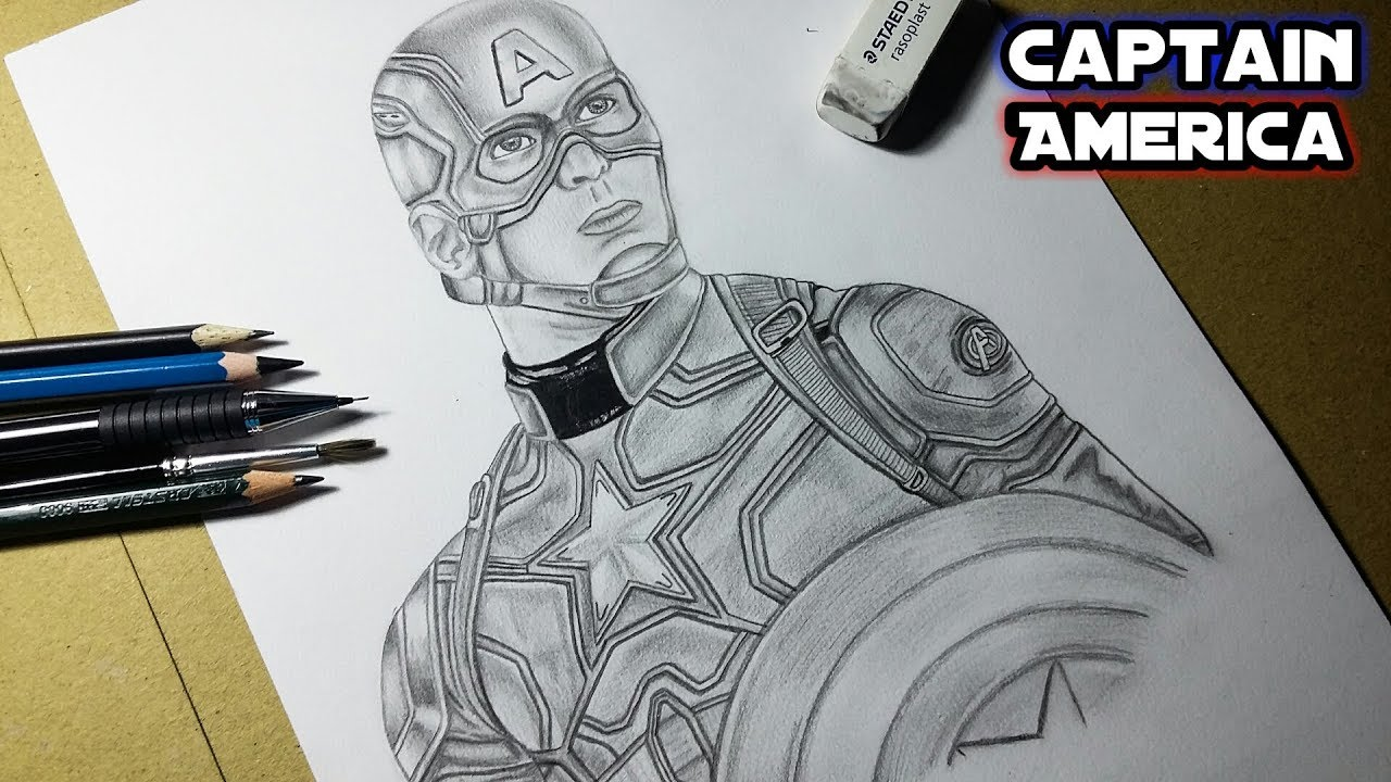 Drawing captain america realistic drawing