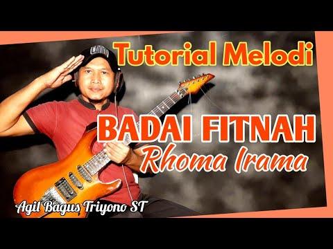 Lagu BADAI FITNAH Rhoma Irama Video Cover Tutorial Melodi Dangdut Termudah