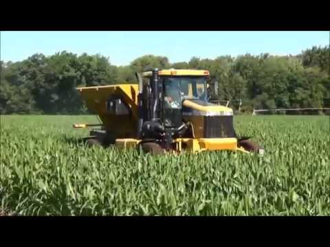 Seeding cover crop in standing corn with RoGator high-boy