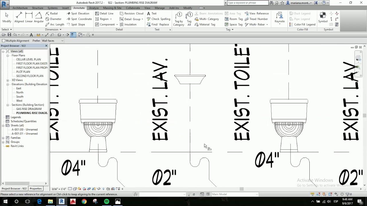 plumbing rise diagram [ 1280 x 720 Pixel ]