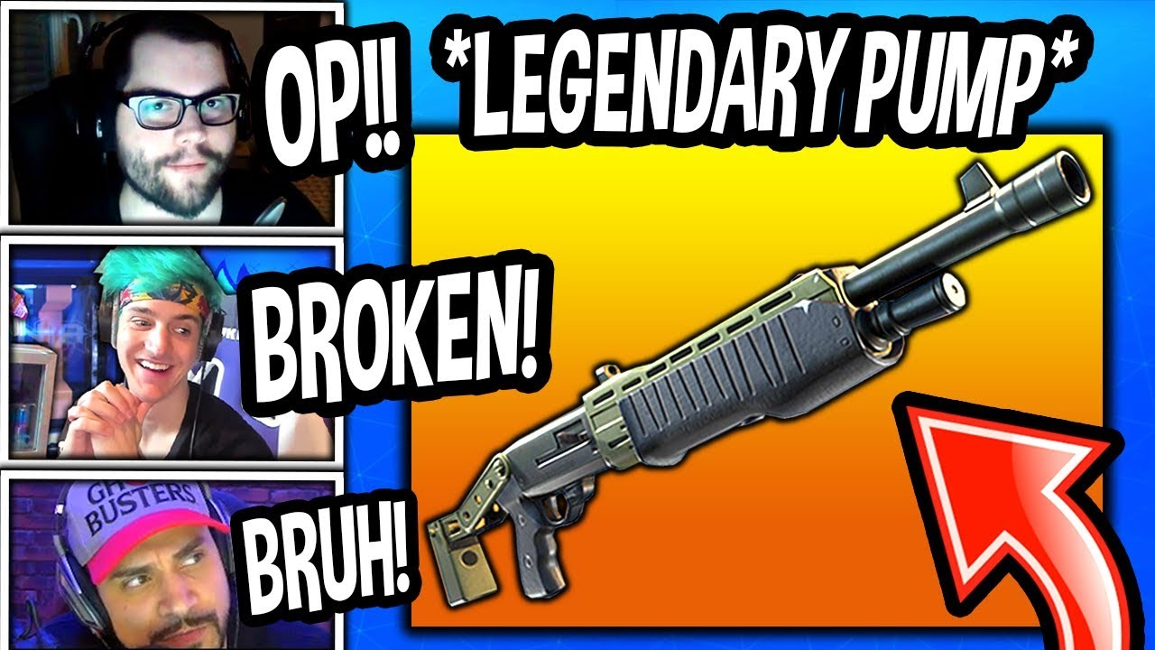 streamers-first-kills-with-new-legendary-pump-shotgun-spas-12-fortnite-epic-funny-moments