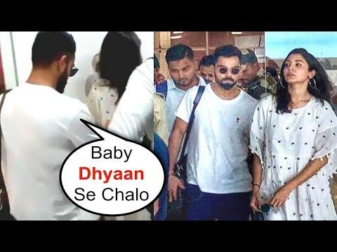 Virat Kohli PROTECTS Wife Anushka Sharma From Fans At Goa Airport Mp3