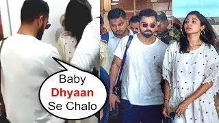 Virat Kohli PROTECTS Wife Anushka Sharma From Fans At Goa Airport