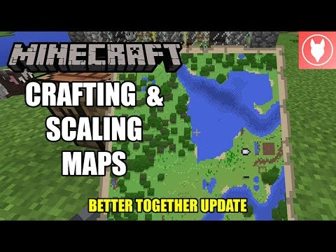 Minecraft Bedrock - Crafting & Scaling Maps Tutorial  ( Xbox / MCPE / Windows 10 ) thumbnail