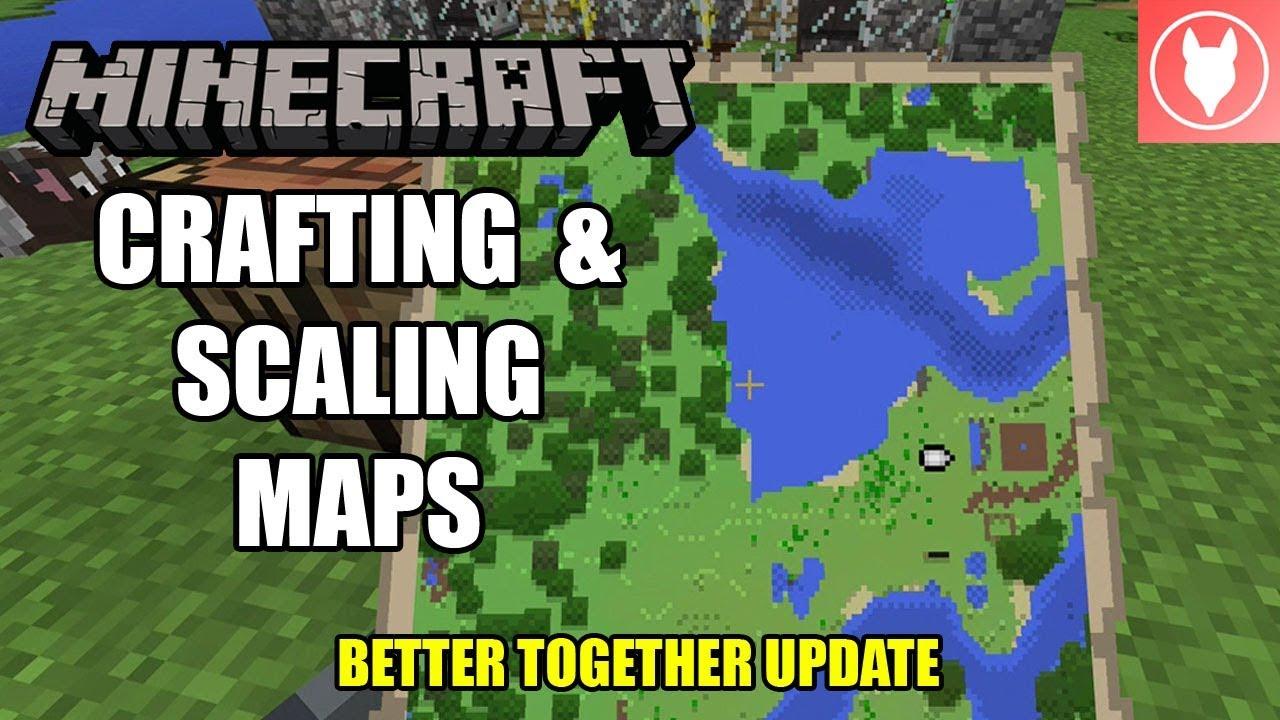 Minecraft Bedrock - Crafting & Scaling Maps Tutorial ( Xbox / MCPE /  Windows 10 )