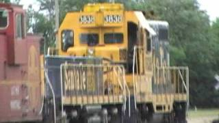 GP7u with a Slug and a caboose in 2007!!!!!