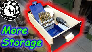 Storage Upgrade   | Drill Press Drawer |