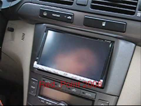 jvc kw avx800 in toyota avensis t25 by red point youtube. Black Bedroom Furniture Sets. Home Design Ideas