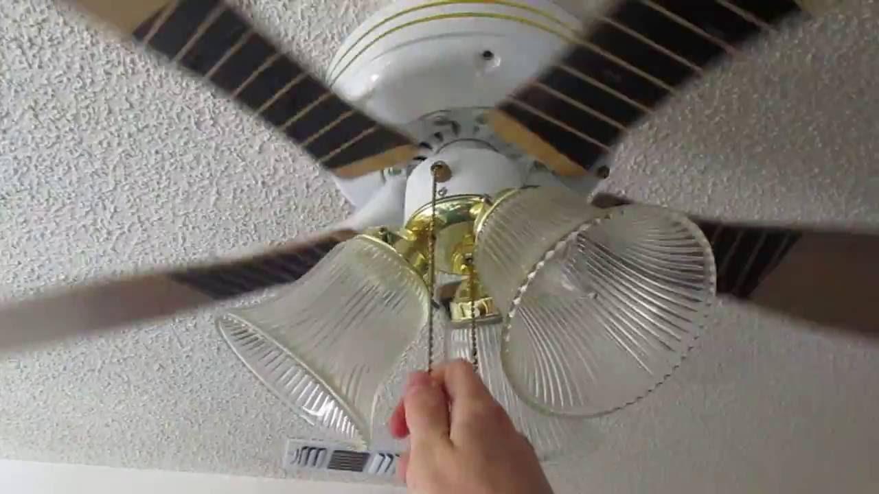 Baseball Bat Ceiling Fan With 3 Light Kit