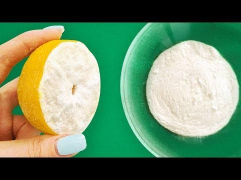 レモン汁と重曹を合わせると、驚きの結果が!