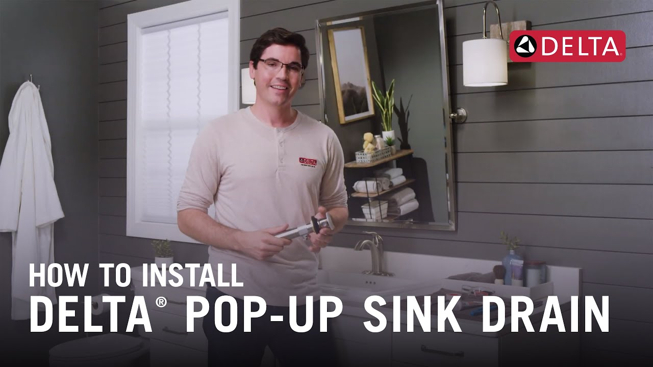 how to install a delta pop up sink drain