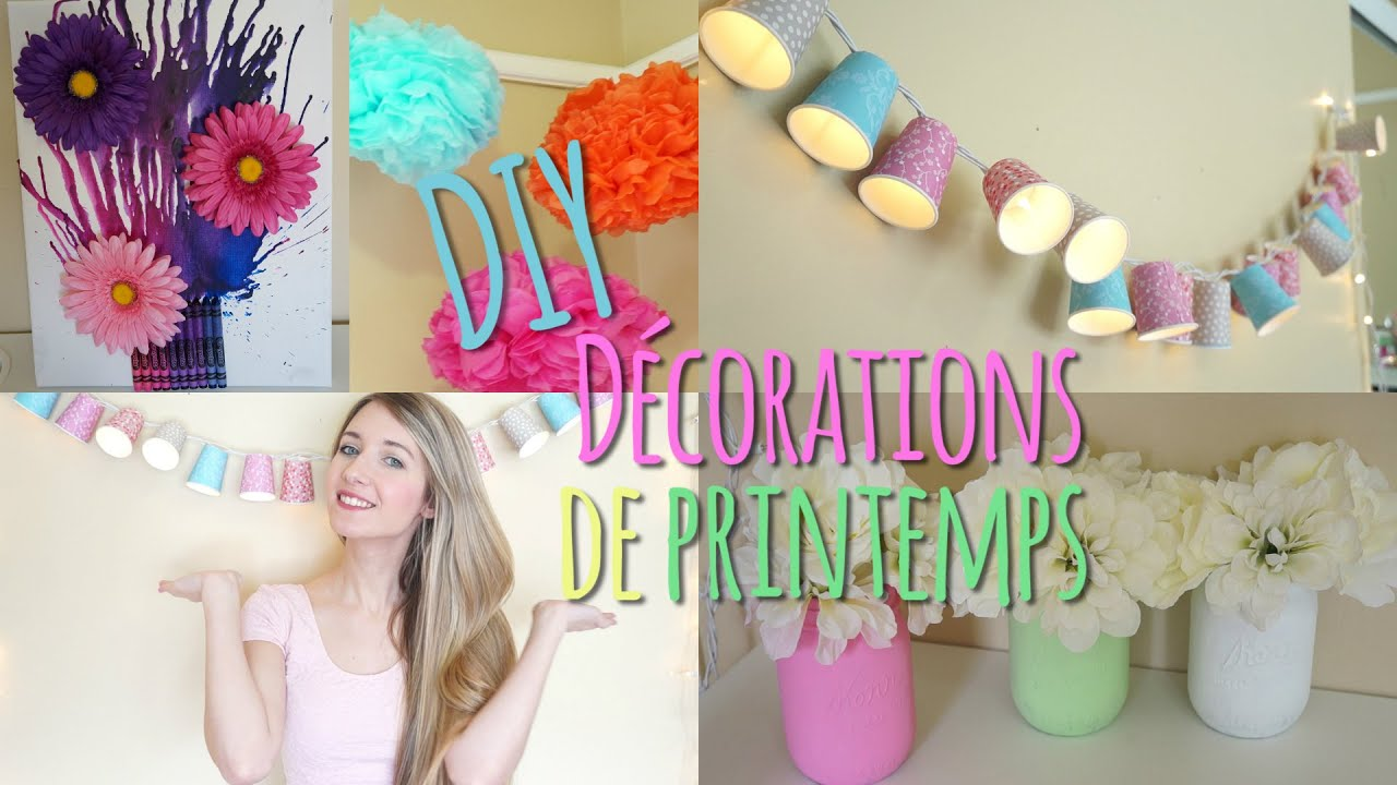 Diy D Corations De Printemps Youtube