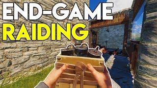 END-GAME RAIDING and COUNTER RAID! - Rust Survival #23