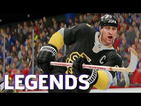 NHL 19 Gameplay Featuring Wayne Gretzky & Mario Lemieux