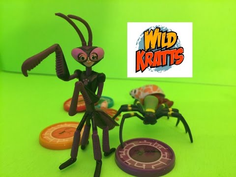 Wild Kratts Praying Mantis Powers! Unboxing and Review of Wild Kratts Crawlers Set!
