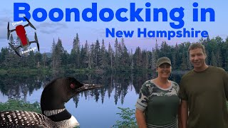 BOONDOCKING in New Hampshire....DRONE FOOTAGE