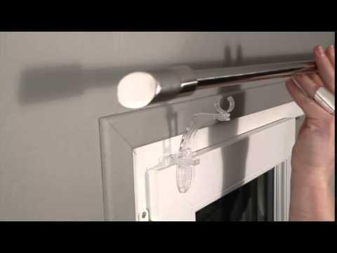 systeme de fixation sans percage pour barre a rideau extensible access