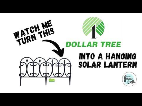 Dollar Tree Garden Fence Makeover ~ Hanging Solar Lantern + 2 Bonus Uses