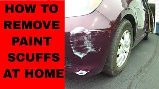 How to Remove Paint  Scuff from a Car or Paint Transfer Removal