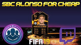 EUROPA LEAGUE MARCOS ALONSO SOLUTION AND TWITCH HIGHLIGHTS!- FIFA 19 Ultimate Team Gameplay