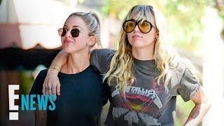 Miley Cyrus & Kaitlynn Carter Show PDA Again in Matching Outfits E! News