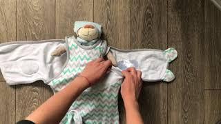 ОНЛАЙН ТРЕЙД.РУ — Конверт с двумя способами фиксации Summer Infant Wrap Sack®, размер S/M, Зигзаг