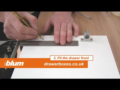 Blum Tandembox Antaro - deep replacement kitchen drawer box - 3 of 3   Fit the drawer front