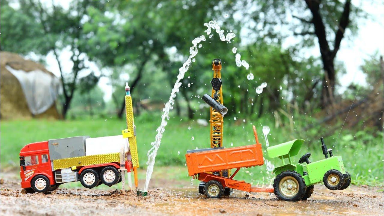 Borewell Drilling | 20 Feet 100% Water | Mt Tractor | Crane | TataTruck | CS Toy